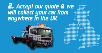 Step Two: Accept a quote and arrange your vehicles collection from anywhere in the UK