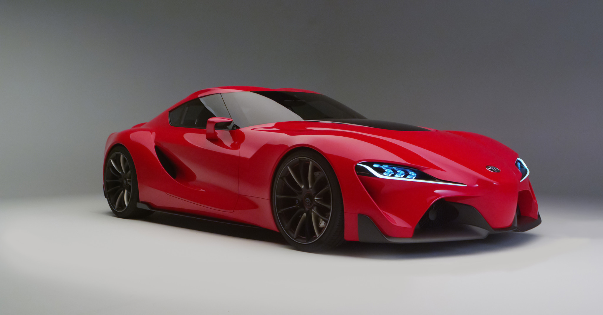 Bright red Toyota F-1 Concept Sports Car