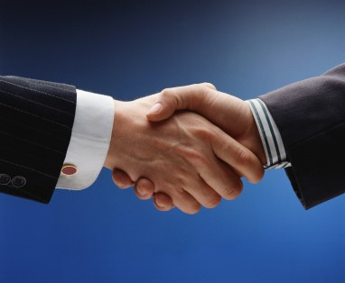 handshake as a sign of trust
