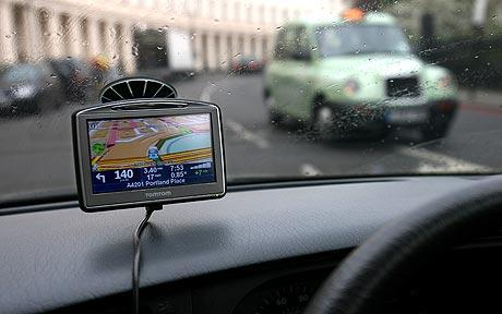 In car sat nav gadget