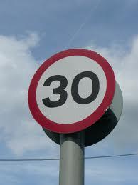 30mph road sign